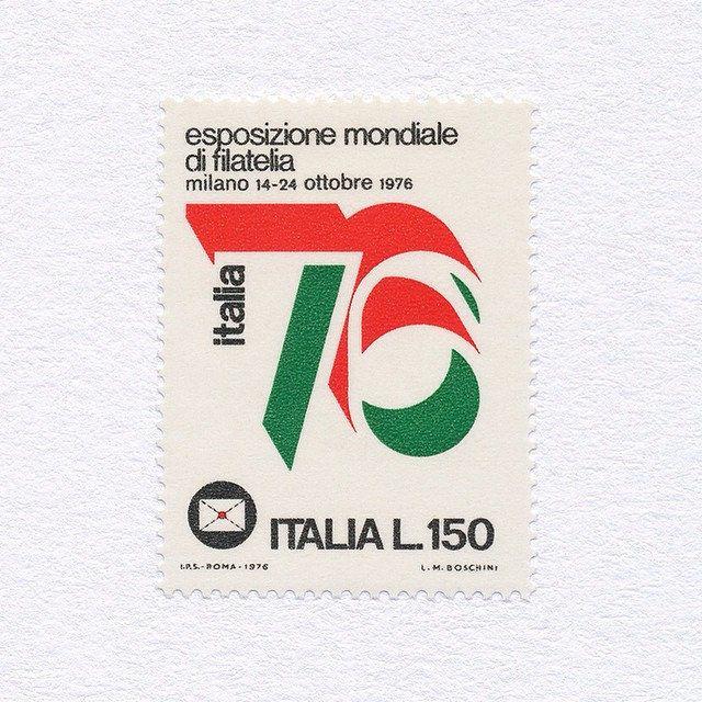 Stamp exhibition Italia '76 (150). Italy, 1976. Design: Luciano M. Boschini. #mnh #graphilately