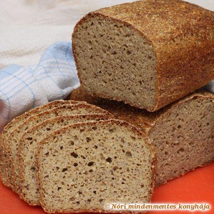 Nóri mindenmentes konyhája: Mindenmentes, teljes kiőrlésű házi kenyér (gluténm...