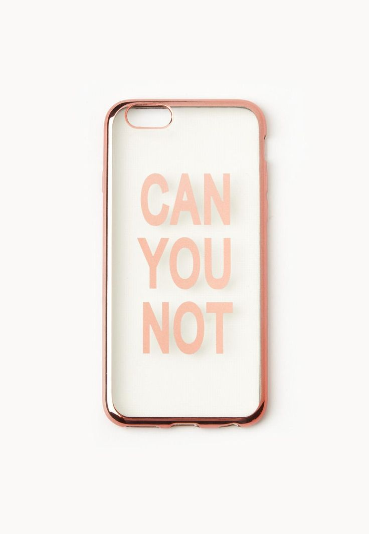Missguided - Rose Gold Can You Not iPhone 6 Case