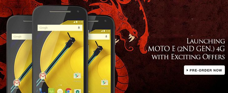 Moto E 2nd Gen 4G Now Official In India