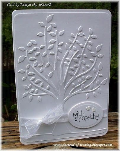 Dry Embossed Tree - the white on white is beautiful