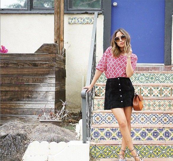 Short Black A Line Skirt - Dress Ala