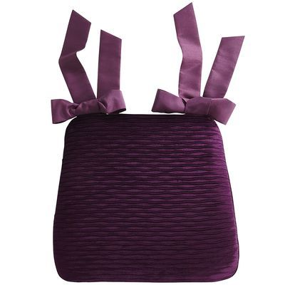 Pleated Velvet Dining Cushion Plum Home Design Ideas