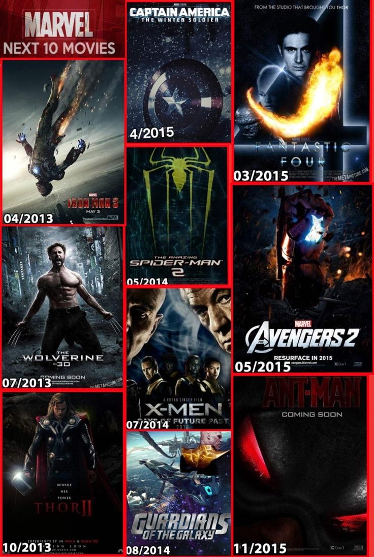 20132015 Marvel Movies New Movies 2014 Pinterest
