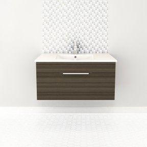 36″ 1 Drawer Floating Vanity   #bathroom #vanity #design #homedecor #interiordesign #lightwood #lightcabinets #renovations #textures #Cutler #CutlerKitchenandBath