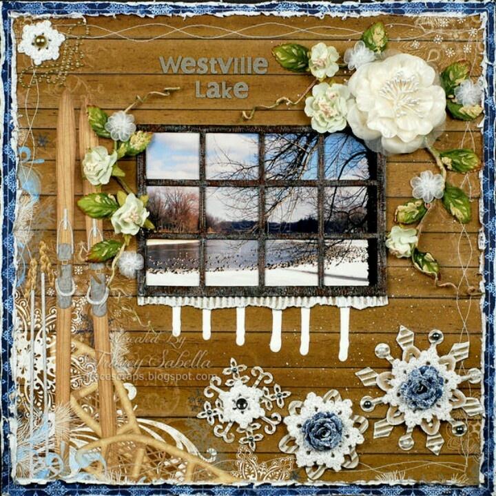 Looking through a window...love this idea