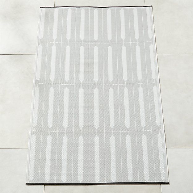 Shutter Ivory And Grey Outdoor Rug 8x10 Reviews Cb2 Outdoor