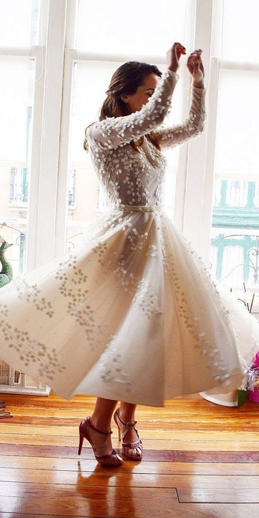 Incredible Tea Length Wedding Dresses Bridalgown Weddingdress