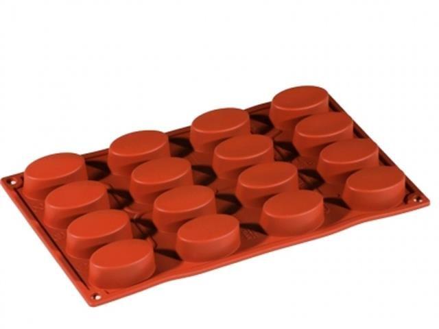Forme silicon FORMAFLEX Multicavitati, 17,5x30cm : Forma Silicon 16 cavitati, Ovale, FR009