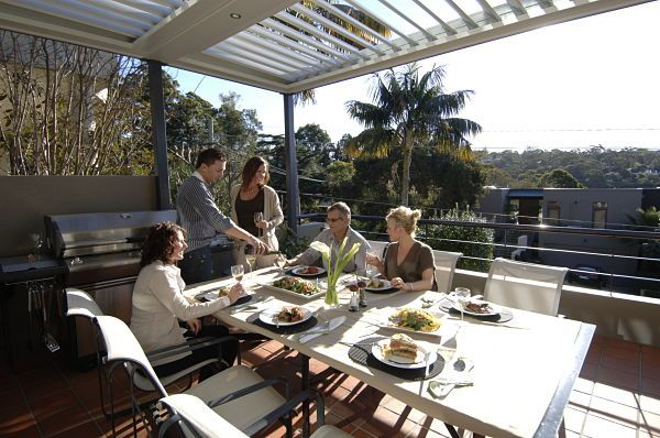 Outdoor entertaining is a breeze with Vergola opening and closing roofs
