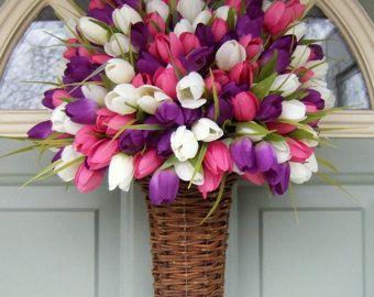 Spring Wreath Spring Tulip Wreath Spring Tulip by countryprim