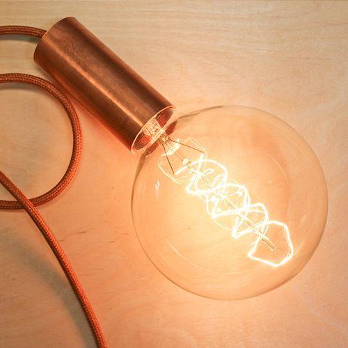 Ampoule globe filament carbone apparent 125 mm nud - Ampoule nud collection ...