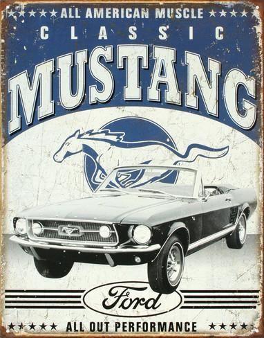 Classic Mustang Placa de lata na AllPosters.com.br