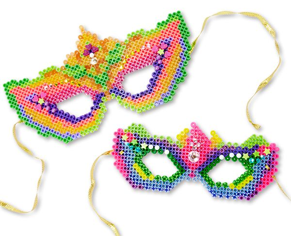 Fancy Masks Perler Project Pattern