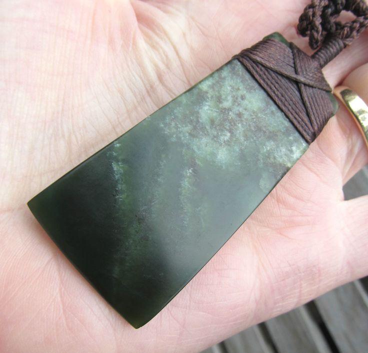 hawaiian adze. nz rare patterned pounamu greenstone jade maori bound hei toki adze necklace nr hawaiian adze c