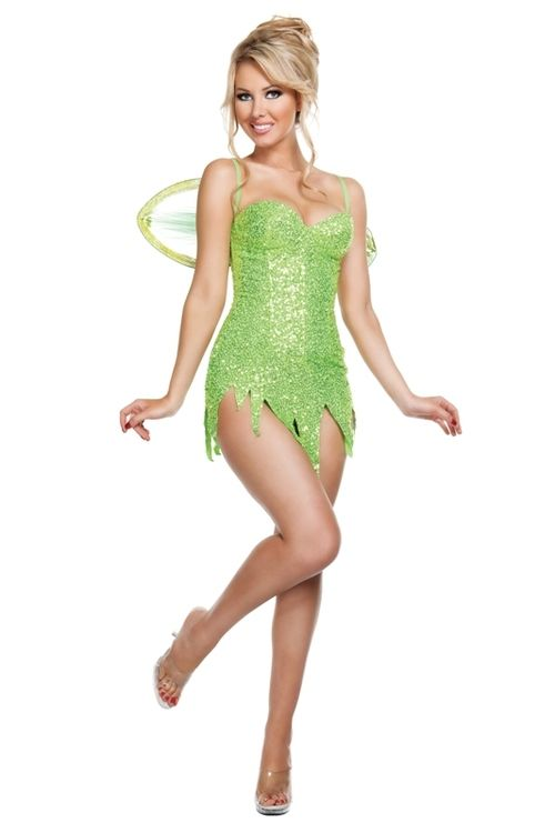 Sexy tinkerbell halloween costume