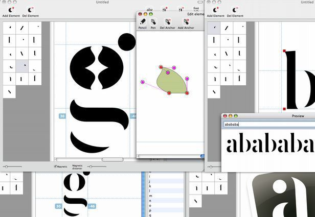 "This free, Mac-only font editor was produced with the intention of giving students a tool for learning about font construction through hands-on experimentation and training. However, as the creator of the tool says, ""Font Constructor is not only meant for students"" -- it can be used by graphic and type designers, as well as anyone who wishes to create fonts."