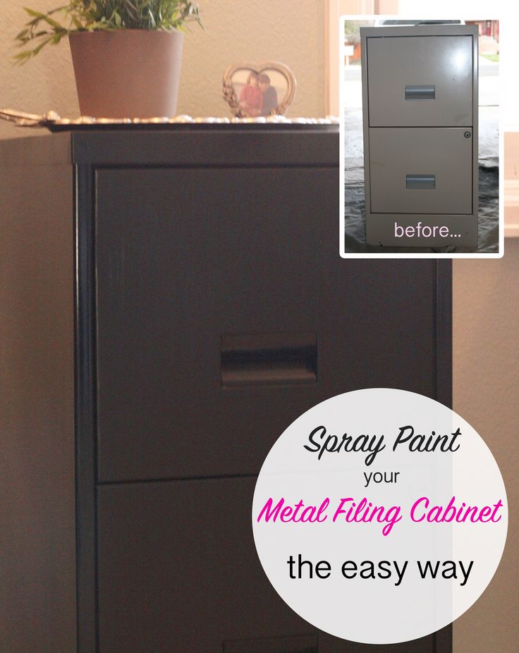 spray paint a metal filing cabinet huis pinterest how to spray. Black Bedroom Furniture Sets. Home Design Ideas