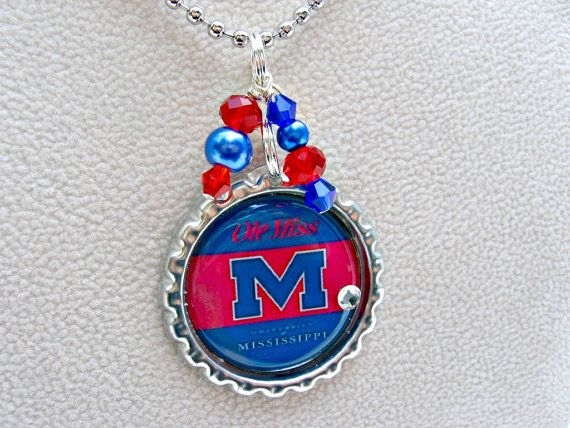 Ole Miss Rebels Jewelry Ole Miss Necklace UOM Jewelry