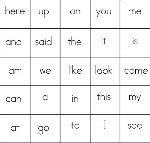 Free sight word bingo cards (first 100 broken in sets of 25) Very adaptable
