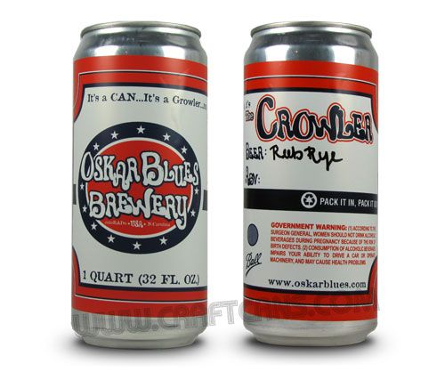 The Crowler™ from Oskar Blues Brewery   CraftCans.com - News and Reviews for the Canned Beer Revolution