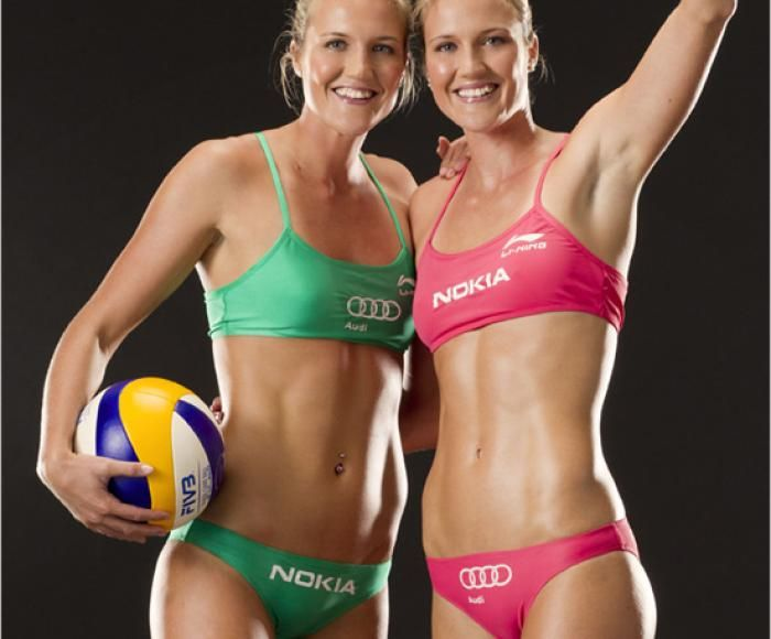 #Emilia-Nystrom and #Erika-Nystrom - These identical twins have made a name for themselves by playing for the Finnish Women's Beach Volleyball Team.