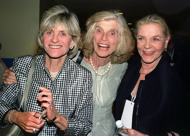 Jean Kennedy Smith, Eunice Kennedy Shriver and Lauren Bacall