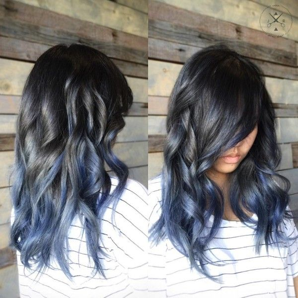 black and blue ombre hair color
