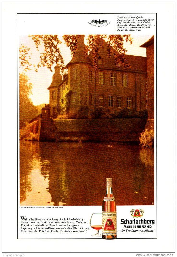 Original-Werbung/ Anzeige 1971 - SCHARLACHBERG MEISTERBRAND / SCHLOSS DYCK BEI GREVENBROICH - ca. 160 x 230 mm