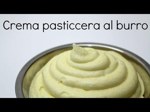Crema pasticcera al burro ricetta per cake design by ItalianCakes - YouTube