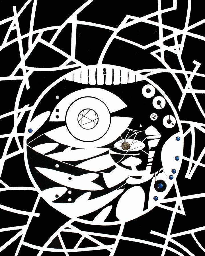 Sometimes all you need is something bold and black and white. Check out Dream Catcher II by Erik.Cheung.  Available in limited editions starting at $40.