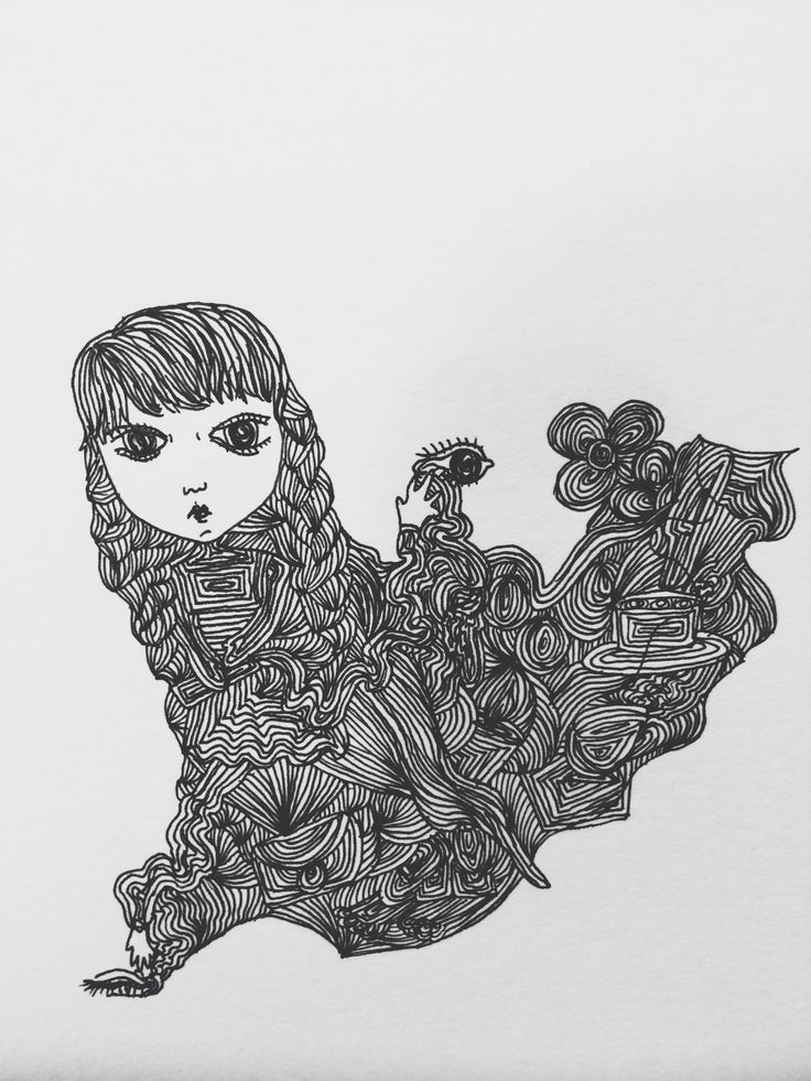 Illustration, line, ink, design
