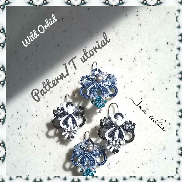 Wild Orhid earrings Tatting TUTORIAL by AnaIuliaTattingLace on Etsy