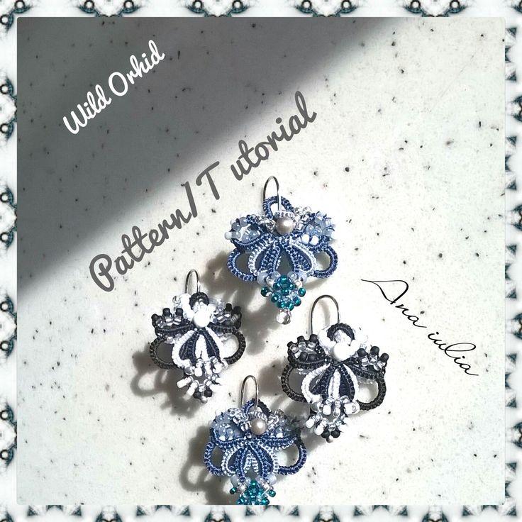 Wild Orhid earrings Tatting TUTORIAL by AnaIuliaTattingLace on Etsy
