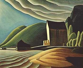Lawren Harris, Ice House. As a child I loved all the smoothness of Lawren Harris' paintings. He was my first favourite painter.