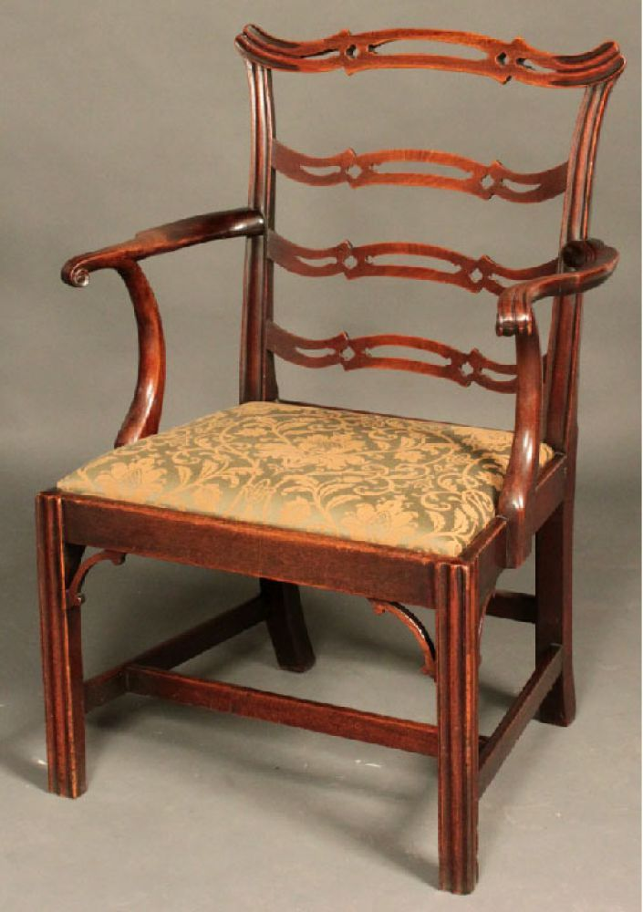 Antique Chippendale ladder-back armchair - Stock - Moxhams Antiques |  Antique Furniture-English | Chippendale chairs, Colonial furniture, Antiques - Antique Chippendale Ladder-back Armchair - Stock - Moxhams Antiques