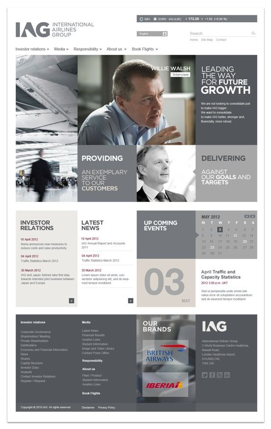 International Airlines Group - Web design inspiration