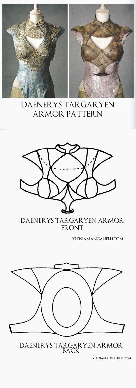 Princess & Dragon - Ylenia Manganelli : Daenerys Targaryen - Cosplay Costume - Cage/Armor Turorial and Resources (Pattern #7)