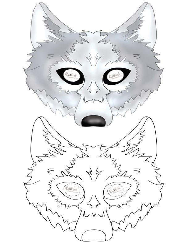 картинка маска волка раскраска многофигурных образов