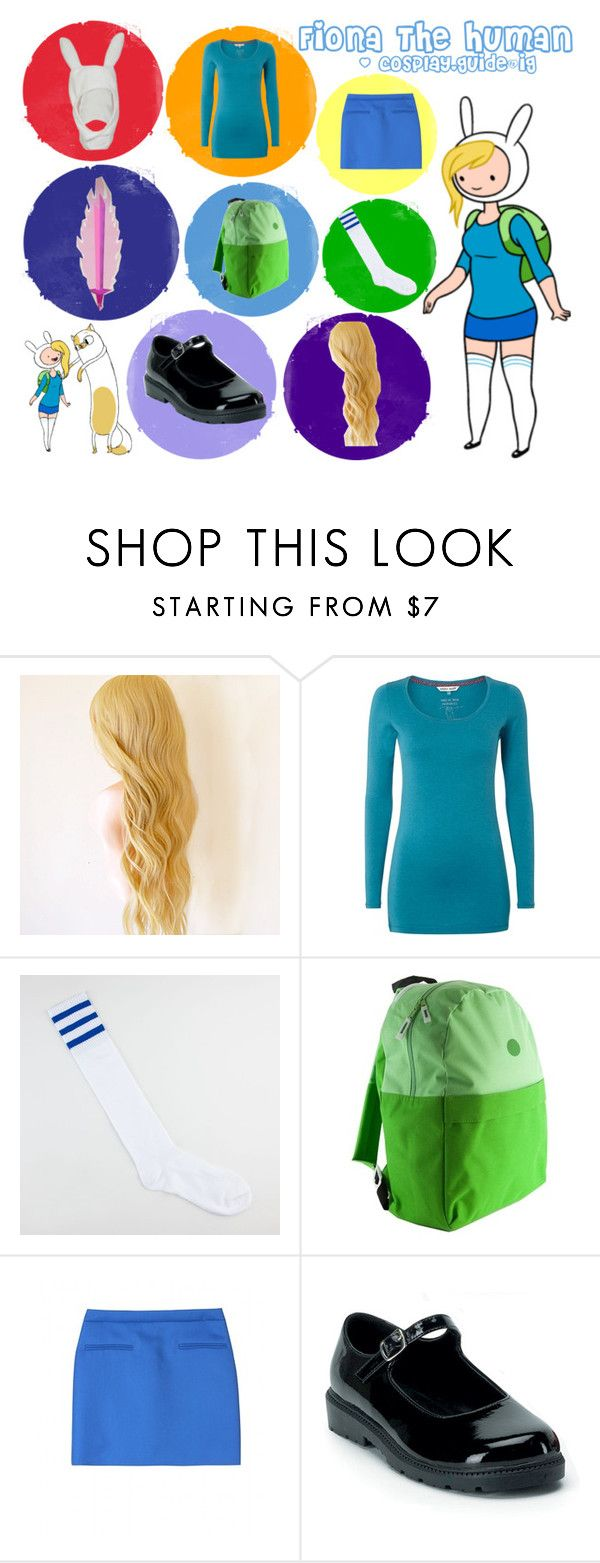 """""""Fiona the human adventure time cosplay outfit"""" by consultingpolyvorer ❤ liked on Polyvore featuring White Stuff, Full Tilt and STELLA McCARTNEY"""