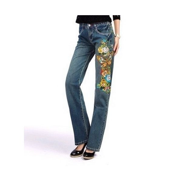 76 best machine embroidery images on pinterest embroidery ideas lkf womens straight flowers embroidered jeans 1105 material 100 cotton denimembroiderywaist style ccuart Gallery