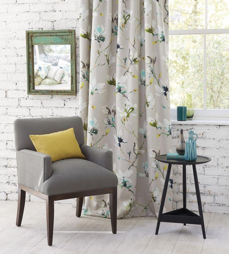 Interior Design Trend, Painterly Florals | Saphira Fabric by Romo | Jane Clayton