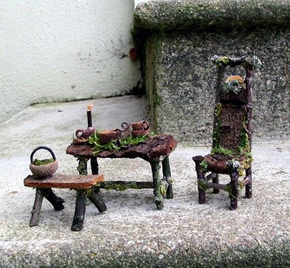 furniture fairy. Tiny Little Furniture. Super Cute For A Faery Garden!!! :) Furniture Fairy S