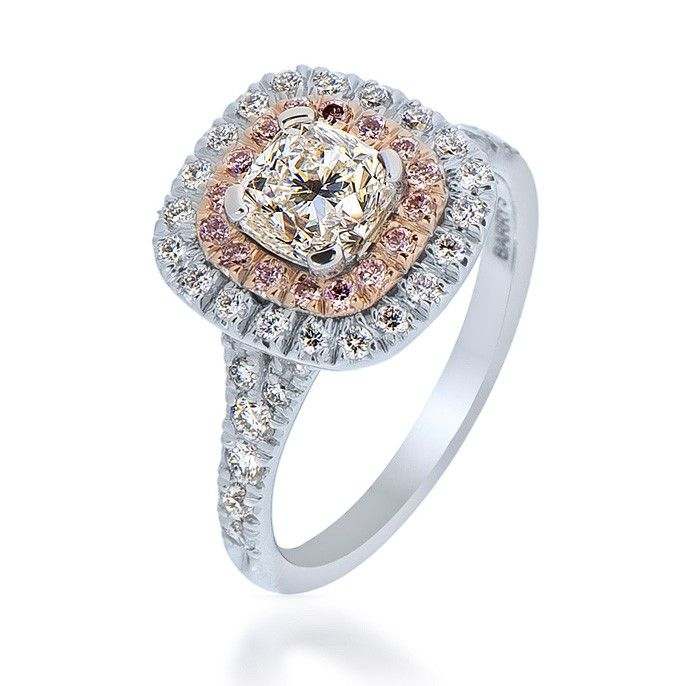 D If Diamond Engagement Ring