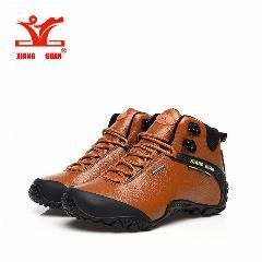 [ 20% OFF ] Xiang Guan Man Hiking Shoes Outdoor Sneaker Climbing High Leather Mountain Sport Trekking Tourism Boots Botas Waterproof