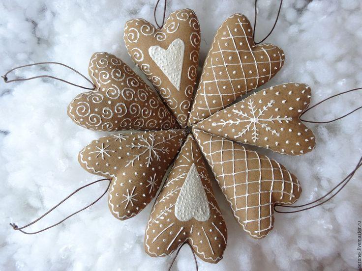 Купить Кофейные сердечки Тильда с ароматом корицы и ванили - кофейные сердечки тильда