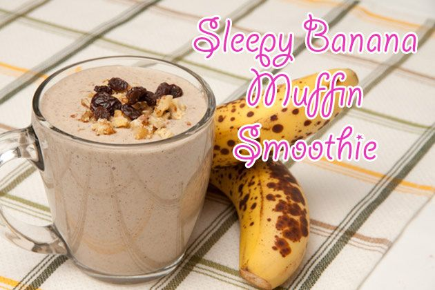 Sleepy Banana Muffin Smoothie