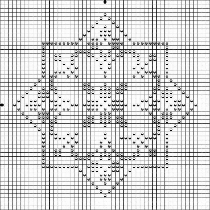 Pattern star biscornu