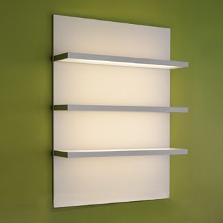 Pod Display Case in White with Lighting  Dimensions: 47.25 H x 35.5 W x 12 D  Design X