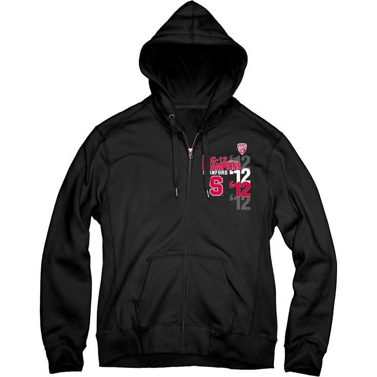 Stanford Cardinal Women's 2012 Pac-12 Conference Football Champions Diversiform Full-Zip Hooded Sweatshirt - $33.24